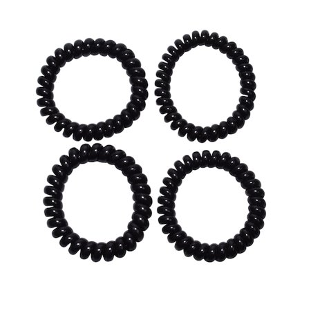 chubuddy Spiralz Coil Bracelet Set For Calming And Satisfying Kids With Autism, Anxiety, ADHD, Sensory Needs- 4 Black Bracelets