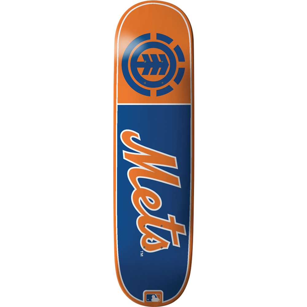 Element Mlb Club Mets Skateboard Deck -8.25 Featherlight ...