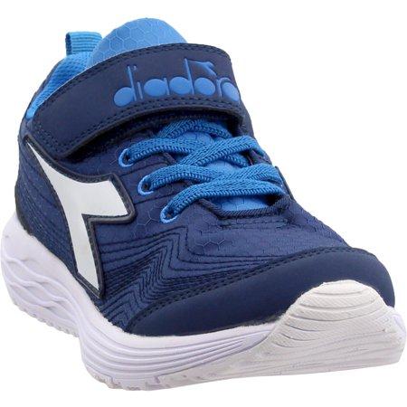 Diadora Boys Flamingo 2 Junior Running Casual Athletic Shoes - Blue (Best Junior Running Shoes)