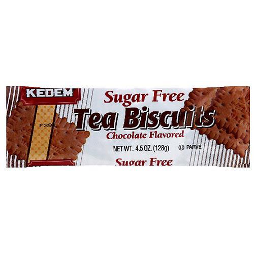 Kedem Sugar Free Chocolate Tea Biscuits, 4.5 oz (Pack of 24)