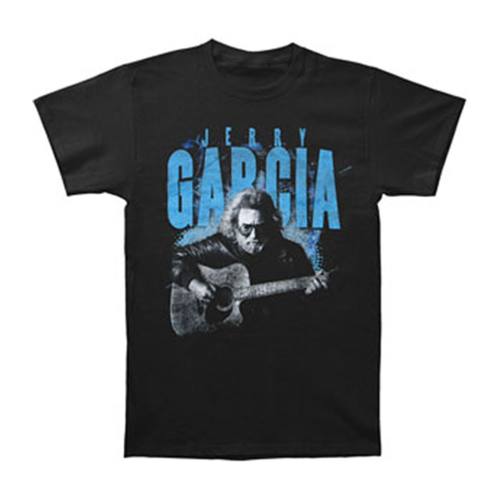 Jerry Garcia Men's  Acoustic T-shirt Black