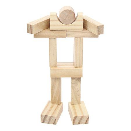 162 Pcs Building Blocks Pine Wood Kids Children Educational Assembled Cars DIY - image 4 de 12