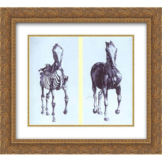 George Stubbs 2x Matted 22x20 Gold Ornate Framed Art Print Frontal