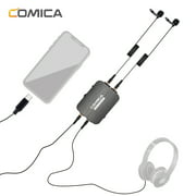 CoMica CVM-D03 STC Omni-directional Dual Head Lavalier Microphone Detachable Multi-functional Clip-on Mic Support Power Bank Charging Real-time Monitoring for Type-C Smartphone, Computer &