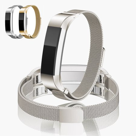Milanese Magnetic Loop Stainless Steel Wrist Band Strap for Fitbit Alta HR (Anita Gold)