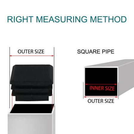 16pcs 25 x 25mm Plastic Square Tube Inserts Cover Black Shelves Leg Protector - image 5 of 7
