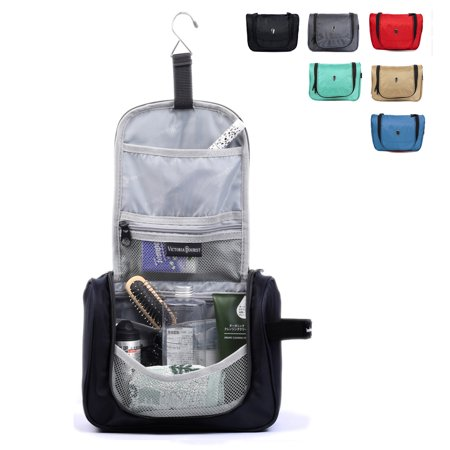 Victoriatourist V3005 Hanging Toiletry Kit Travel Bag Cosmetic Carry Case  Black