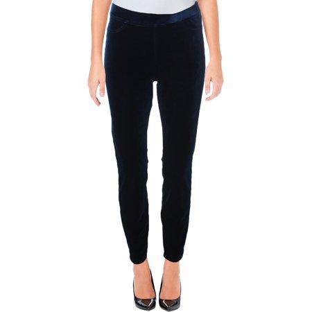 Velvet Pull - [BLANKNYC] Womens Pull On Velvet Leggings Blue XS
