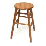"29"" Solid Oak Bar Stools in Oak Finish, Fully Assembled"