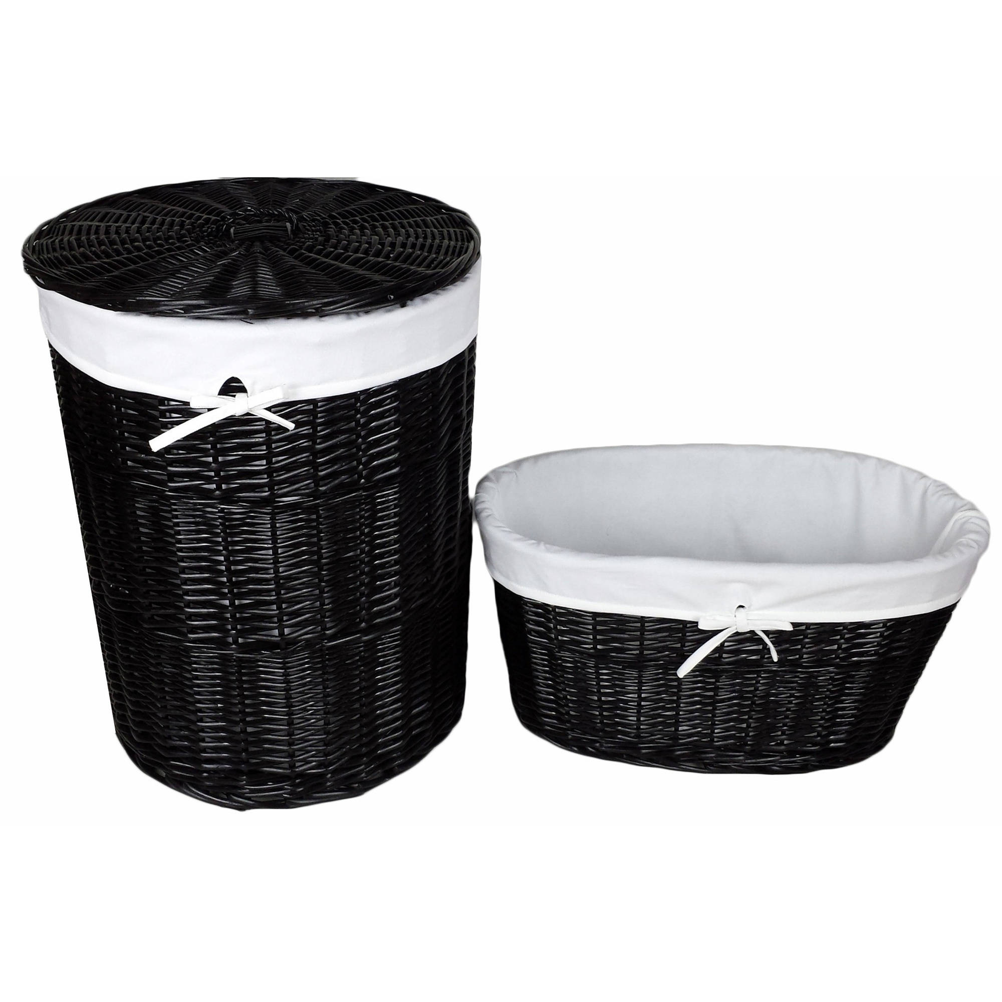 Baum Black Willow Hamper and Laundry Basket by