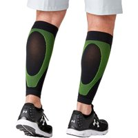 P-TEX Knit Compression Calf Sleeves Black/Green M
