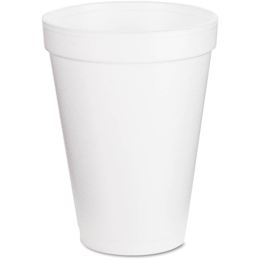 Dart Drink Foam Cups, 12 oz, White, 1000 ct
