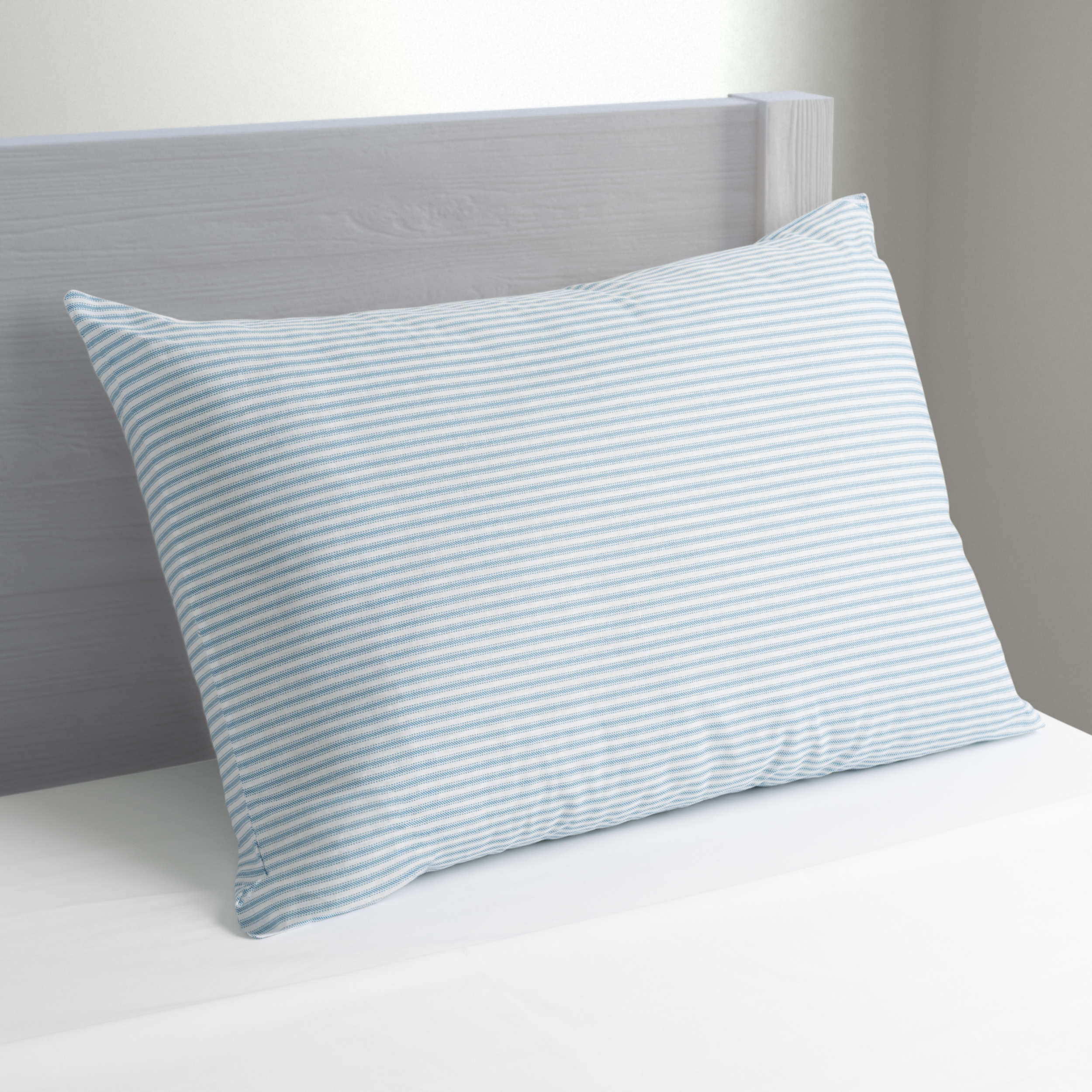 Mainstays Huge Pillow 20 X 28 In Blue And White Stripe Walmart Com Walmart Com