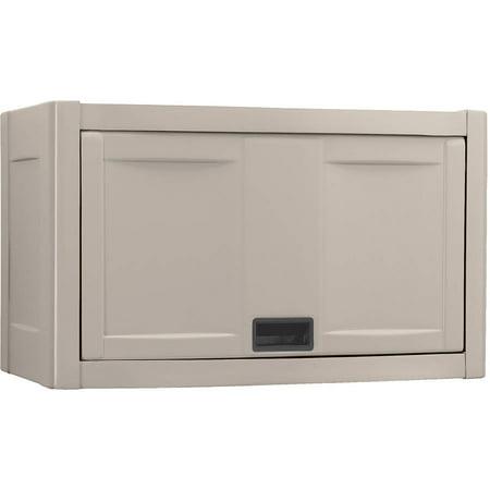 Suncast Resin Garage Wall Storage Cabinet Taupe C2800k