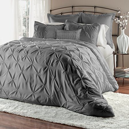 7 piece pinch pleat puckering clearance bedding comforter - Queen size bedroom sets clearance ...