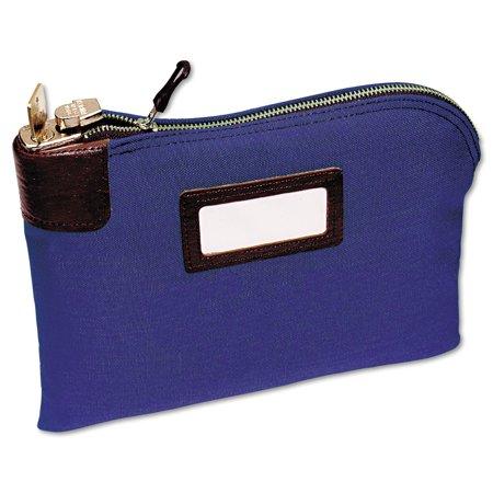 Mmf Industries Seven Pin Security Night Deposit Bag  Two Keys  Cotton Duck  11 X 8 1 2  Blue