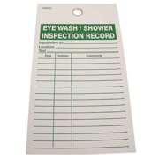 """Eye Wash Inspection Record Tag, Badger Tag & Label Corp, 124, 5-3/4""""Hx3-9/64""""W"""