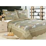 Home & Garden Beautiful Reversible Patchwork Bedspreads Ada To Ensure Smooth Transmission