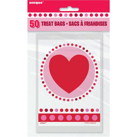 Radiant Hearts Valentine Treat Bags, 50-Count](Valentines Treats)