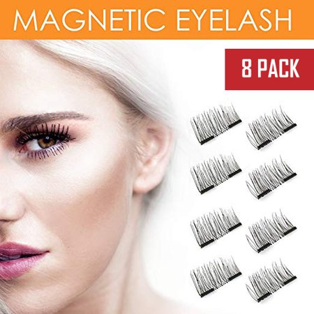 8x Magnetic Eyelashes [No Glue] False Eyelashes Set for Natural Look Fake Lashes Extensions 3D Reusable