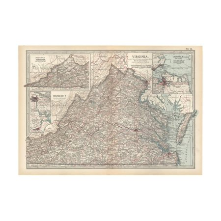 Virginia United States Map.Plate 76 Map Of Virginia United States Inset Maps Of Western Part