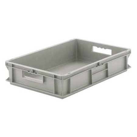 Schaefer Stack (Ssi Schaefer 55 lb Capacity, Solid Wall Stacking Container, Gray)