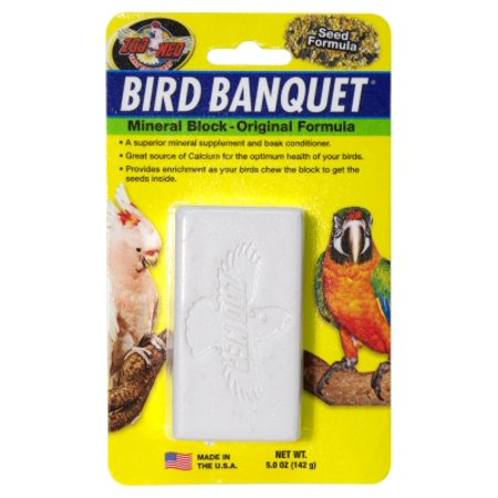 BIRD BANQUET MINERAL BLOCK, LARGE (Coloured Tropical Bird With A Large Beak)