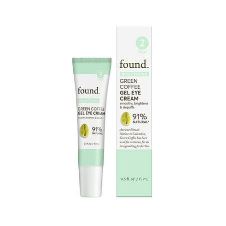 Irish Green Eyes (FOUND BRIGHTENING Green Coffee Gel Eye Cream, 0.5 fl oz)