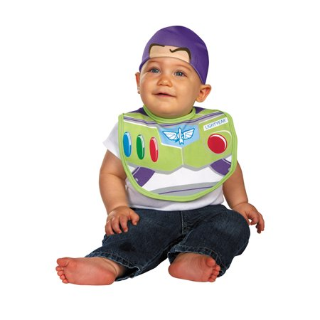 Buzz Lightyear Halloween Costume Homemade (Buzz Lightyear Bib and Hat)