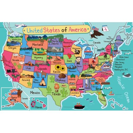 Map United States Of America US USA World School Daycare Clroom Kids on playas n. america, rivers america, map italy, map europe, funny america, ohio state america, states in america, latin america, map mexico, map canada, north america, atlas america, map belize, club america, central america, map georgia, vincennes map america, map australia, physical map america,