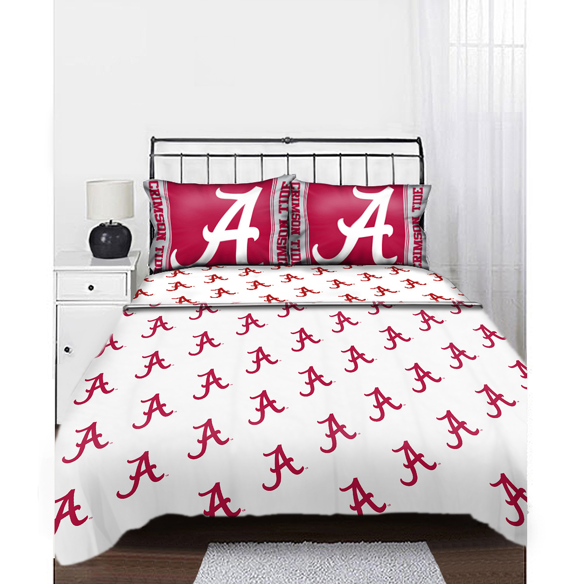 NCAA Alabama Crimson Tide Sheet Set Anthem Sheets Full Bed