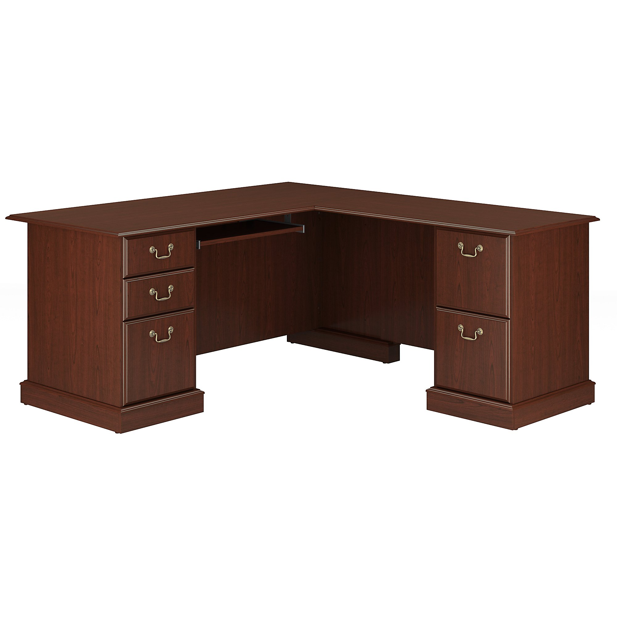 Bush Furniture Saratoga L Shaped Computer Desk In Harvest Cherry Com