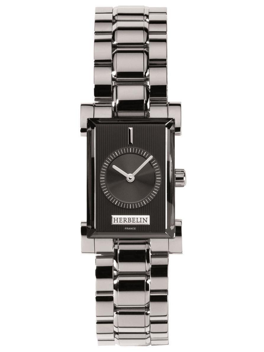Michel Herbelin Women's Steel Bracelet & Case Sapphire Crystal Quartz Black Dial Analog Watch 17458 B14 by Michel Herbelin