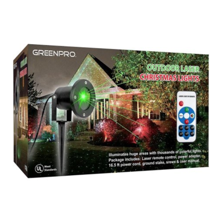 Greenco Outdoor Indoor All Weather Waterproof Star Laser Projector Christmas Decoration Lights With Wirless Remote](Laser Stars)