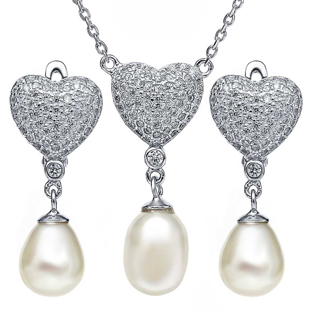 Timeless Classic Genuine Freshwater Cultured Pearl Necklace Set