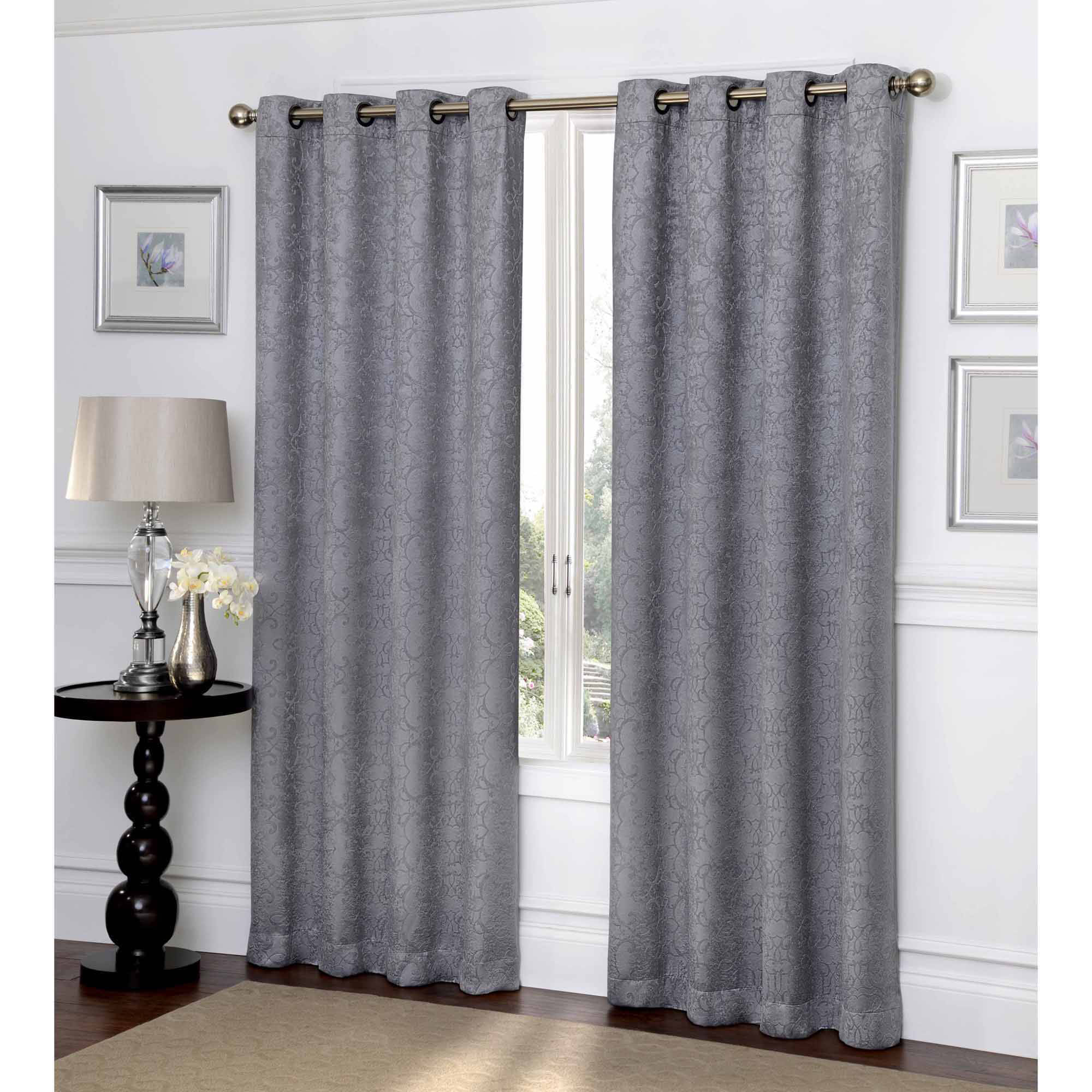 ironwork scroll blackout curtain panel - Blackout Curtain