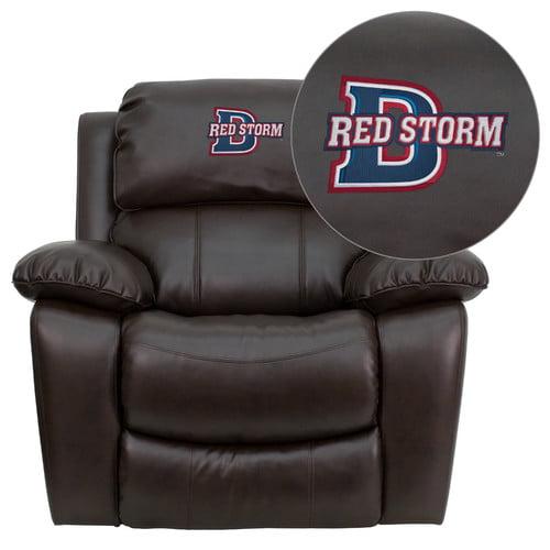 Flash Furniture Collegiate Brown Leather Rocker Recliner