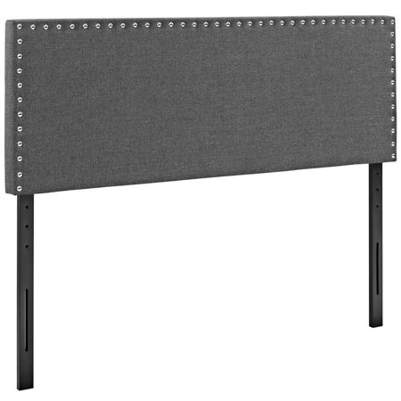 Collection King Storage (Hawthorne Collection Fabric Upholstered King Headboard in Gray )