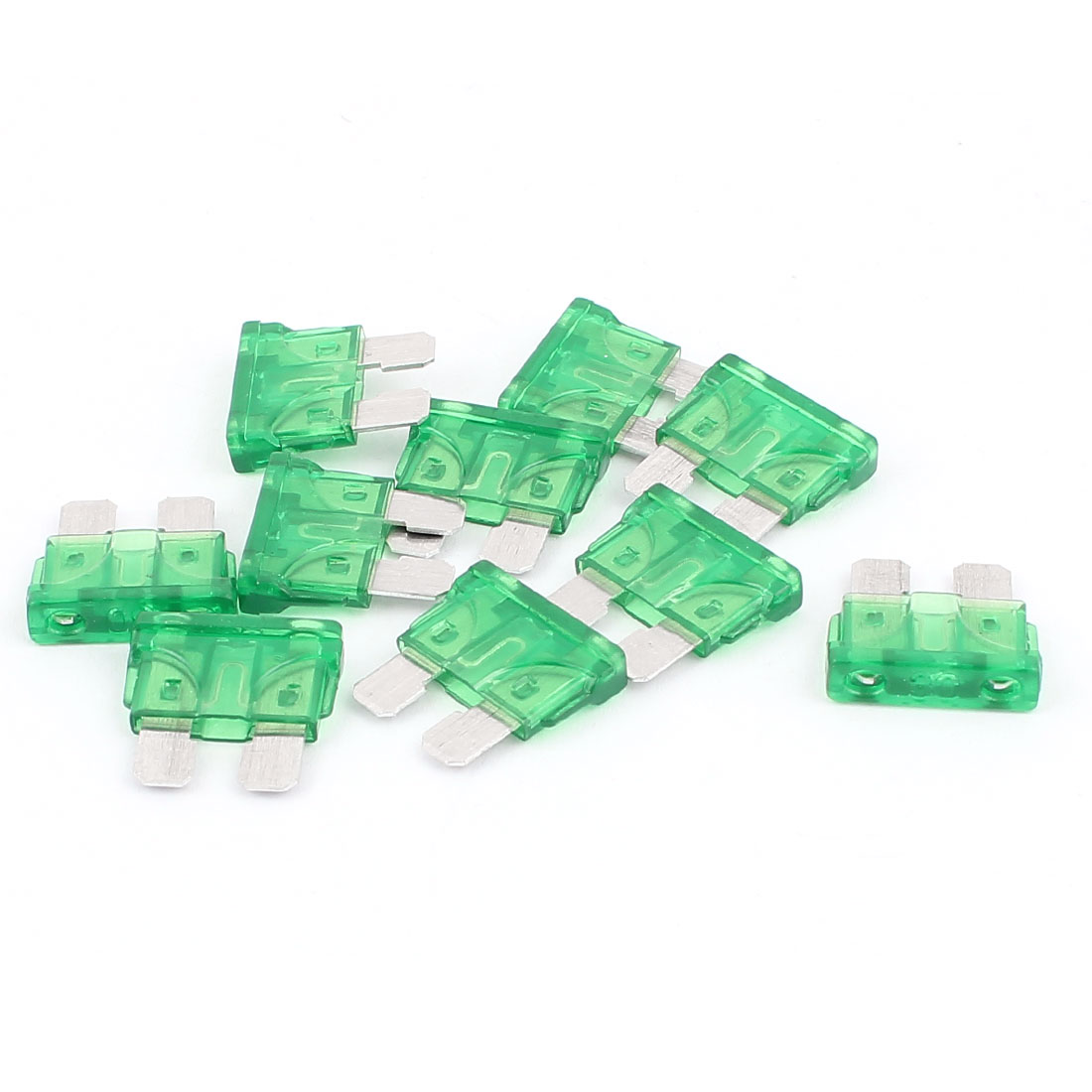 10pcs 30A Green Plastic Housing  Fuse for Auto Car Truck Motorcycle SUV
