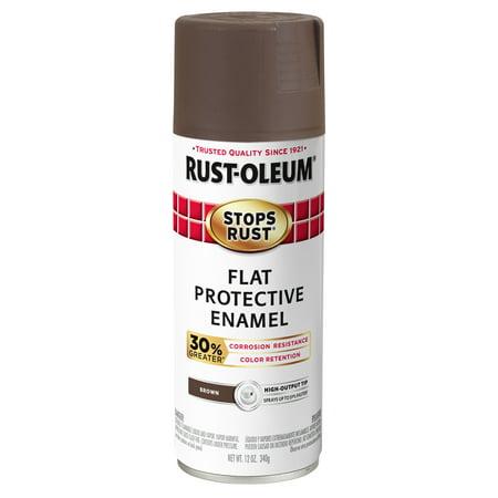 3 Pack Rust Oleum Stops Advanced Flat Brown Protective Enamel Spray Paint