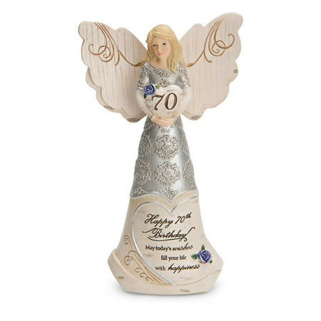 Pavilion Gift Company Elements 82416 70Th Birthday Angel Holding Heart