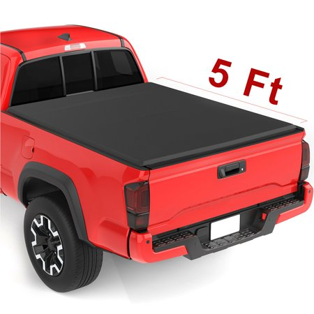 Upgraded Soft Tri-fold Truck Bed Tonneau Cover On Top Compatible for 2015 2016 2017 2018 2019 Chevy Colorado/GMC Canyon with 5ft Bed | Fleetside (2018 F 250 Tonneau Cover 8)