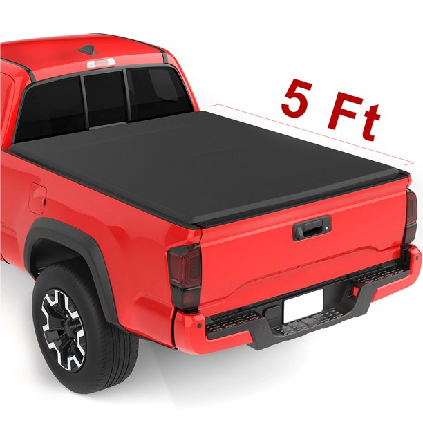 Upgraded Soft Tri Fold Truck Bed Tonneau Cover On Top Compatible For 2015 2016 2017 2018 2019 Chevy Colorado Gmc Canyon With 5ft Bed Fleetside Walmart Com Walmart Com