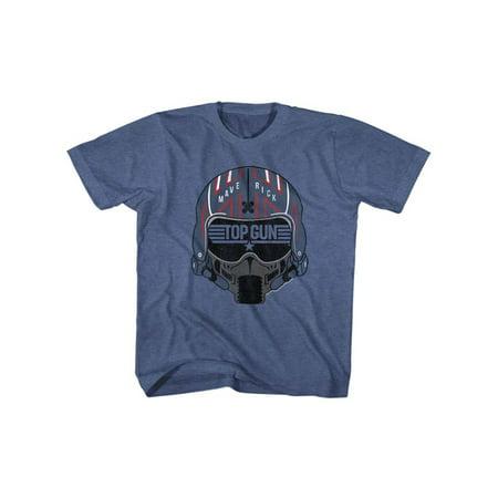 Top Gun 1980s Military Fighter Jet Maverick Helmet Action Movie Big Boys T-Shirt - 1980s Fashion For Kids