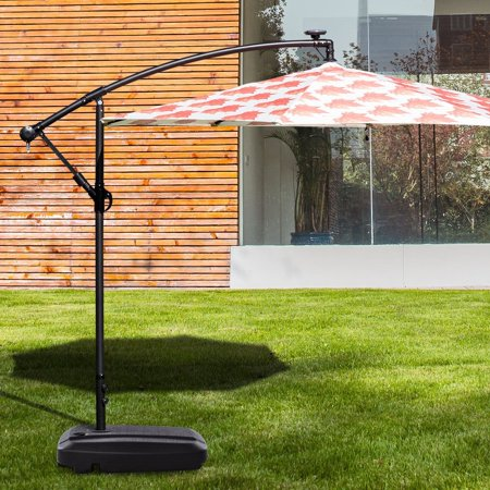 60l Plastic Weighted Fill Water Sand Wheel Patio Umbrella Base