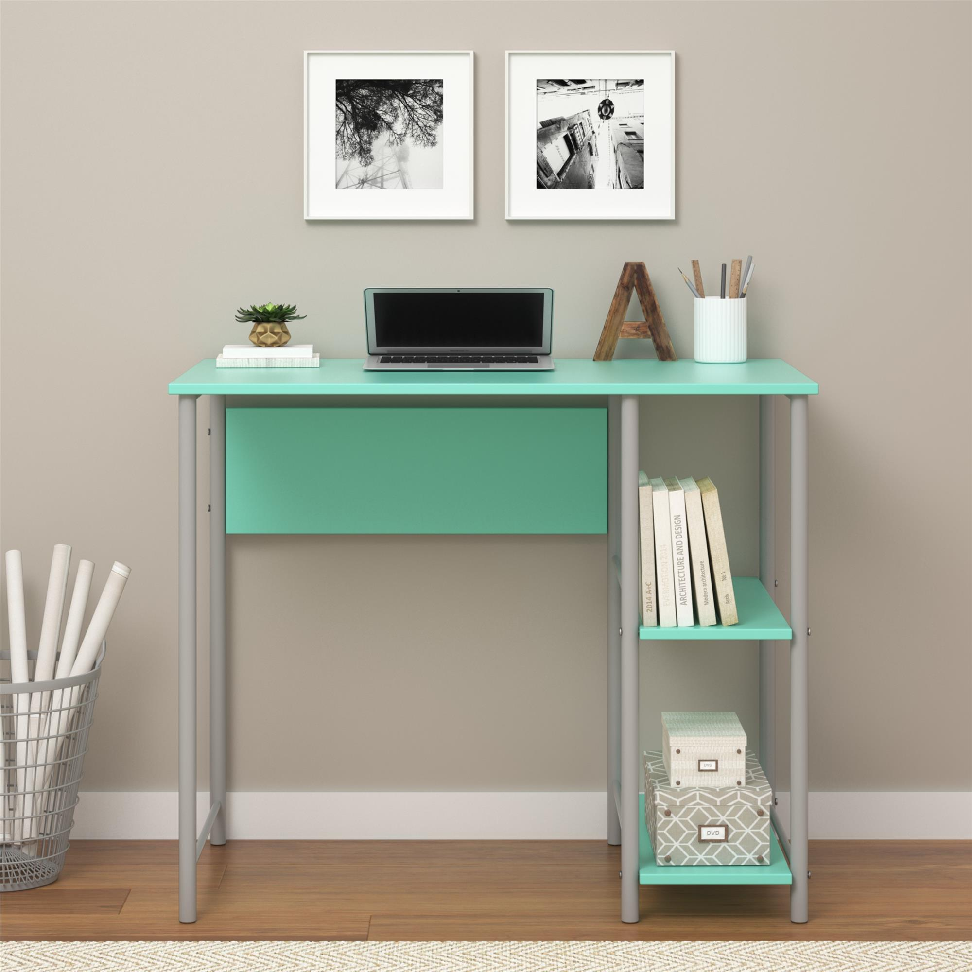 hives teal desk makeup mirror wayfair furniture pdx ainsley vanity honey with reviews and