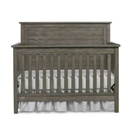 Fisher-Price Quinn 4-in-1 Convertible Crib, Vintage Gray ()