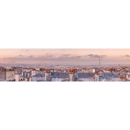 Paris France Tower - Cityscape of Montmartre with Eiffel Tower Paris France Poster Print by  Assaf Frank