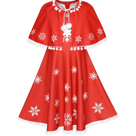 Halloween Party Decor Cape Town (Girls Dress Red Cape Cloak Christmas Year Holiday Party)