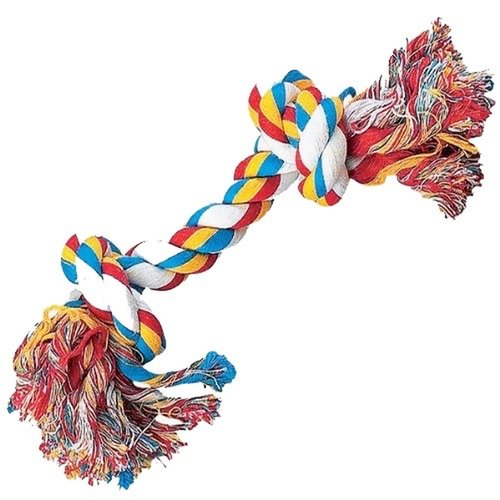 Zanies Two-Know Rompin' Rope Bone, 14""